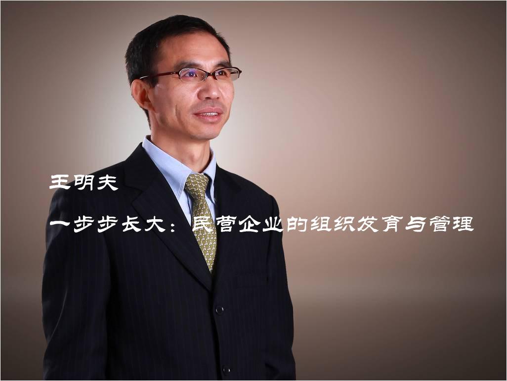 王明夫:一步步长大:民营企业的组织发育与管理 }