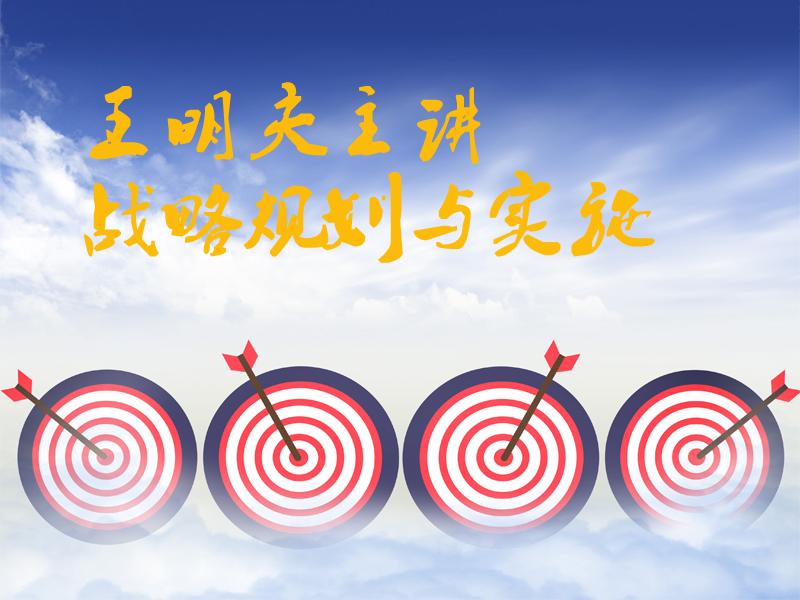 【10日14:00】王明夫:战略规划与实施