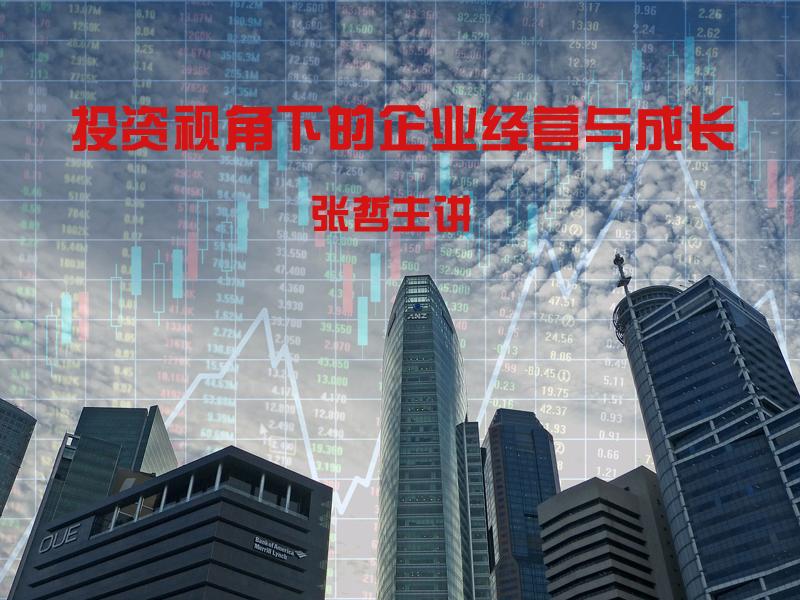 【15日9:00】张哲:投资视角下的企业经营与成长