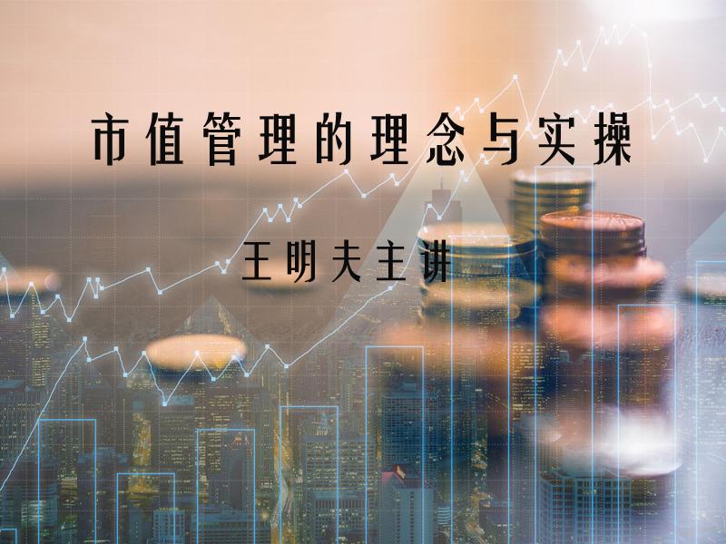 【12日14:00】王明夫:市值管理的理念与实操