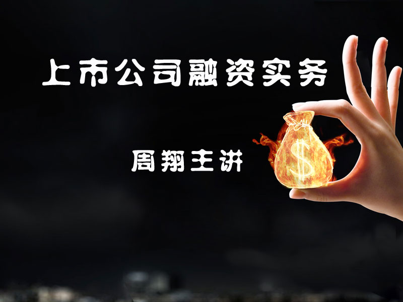周翔:上市公司融资实务