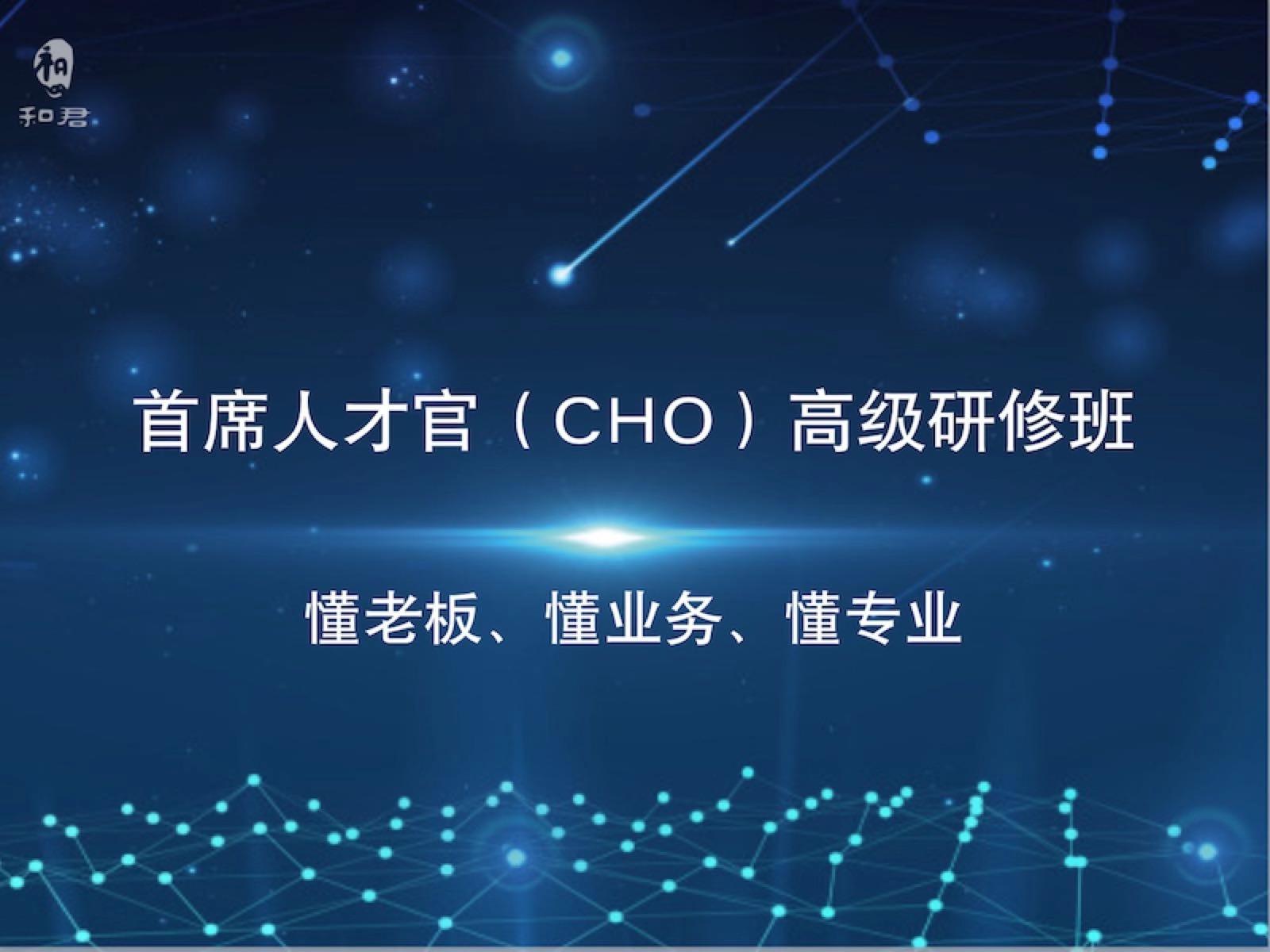 和君首席人才官(CHO)高级研修班